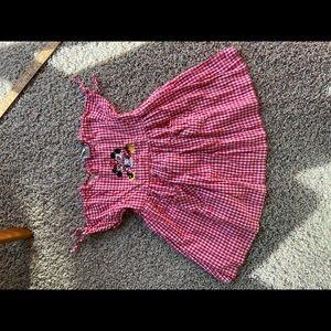 Disney Store Red Gingham Mickey & Minnie Dress 4T
